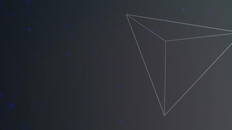 Bewegungsgeometrische-Dreiecke-Mit-Glitzern-Im-Raum-2
