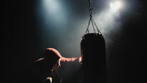 Top-view-of-a-boxer-s-silhouette