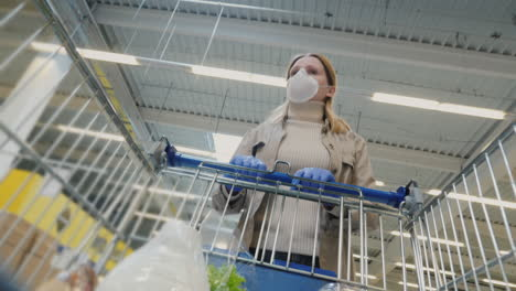 Woman-Shopping-In-Protective-Mask-During-Coronavirus-Pandemic