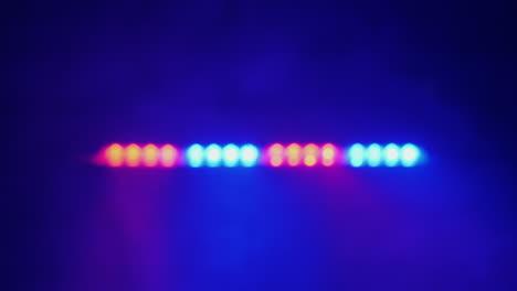 Blurred-lights-flashing-on-a-police-car