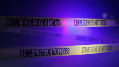 Police-lights-light-up-the-fencing-tape-at-the-crime-scene-1