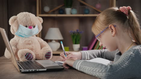 Child-Does-Lessons-At-Home-During-Quarantine-Online-Training
