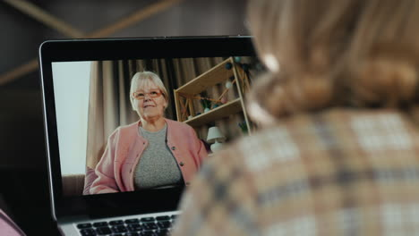 Woman-Talks-To-Her-Elderly-Mother-Via-Video-Call