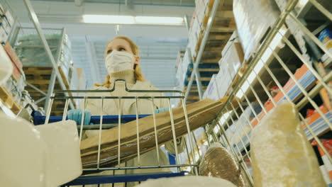 Woman-Shopping-During-Quarantine-And-Coronavirus-Epidemic