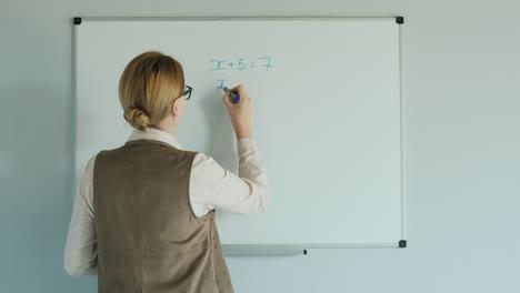 The-Teacher-Solves-The-Equation-In-Algebra