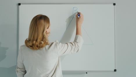 Teacher-Solves-Geometry-Problem-On-Board