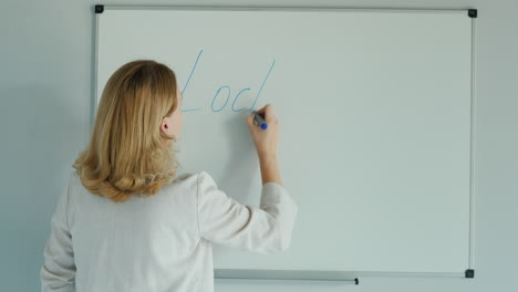 A-Woman-Writes-A-Word-Lockdown-On-The-Class-Board-1