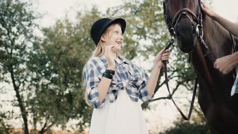 Girl-Strokes-a-Horse-1