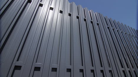 A-fence-made-of-grey-metal