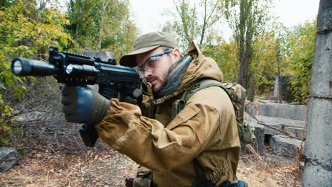 A-man-plays-airsoft-with-a-pistol-in-his-hand-6