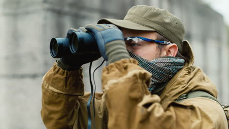 A-man-plays-airsoft-with-a-pistol-in-his-hand-10