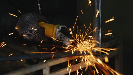 Sparks-from-a-hand-power-tool