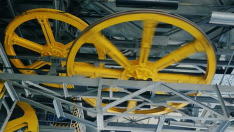 Huge-wheels-of-the-internal-mechanism-of-a-funicular