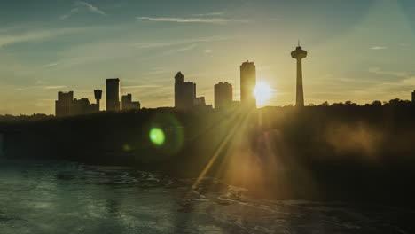 The-sun-shines-through-buildings-on-the-Canadian-shore-near-Niagara-Falls-1