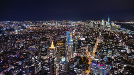 Usa-New-York-City-Manhattan-Aerial-Panorama-Cityscape-Skyline