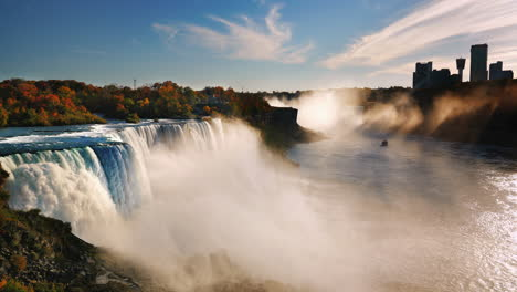 Sunset-Over-Buildings-Of-Niagara-Falls-On-The-Canadian-Side-Of-The-River