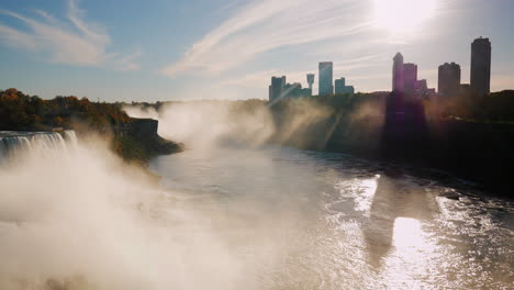 Sunset-Over-Buildings-Of-Niagara-Falls-On-The-Canadian-Side-Of-The-River-1