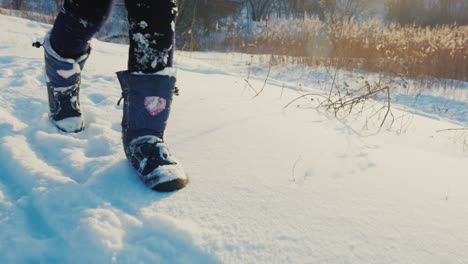 A-Child-Runs-On-Fresh-Snow
