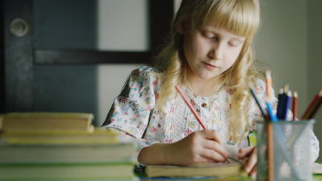 Girl-Five-Years-Draws-During-The-Evening-2
