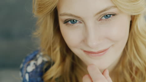 Blue-Eyes-Of-A-Young-Woman-Looking-Into-The-Camera-4