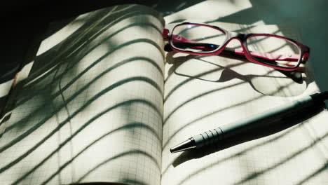 Glasses-Are-On-A-Notebook-Open-On-A-Blank-Sheet-1