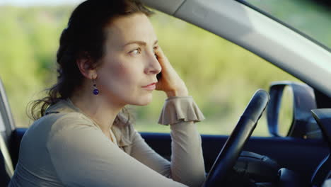 Portrait-Of-Caucasian-Woman-Crying-In-Car-2