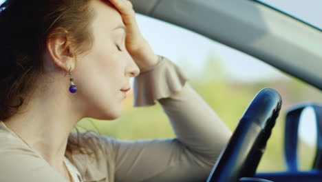 Portrait-Of-Caucasian-Woman-Crying-In-Car-3