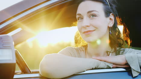 Attractive-Woman-Looks-Out-The-Car-Window-Portrait-4