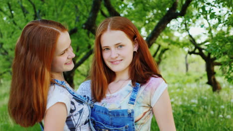 Close-Up-Portrait-Of-Two-Happy-Sisters-Twins-2