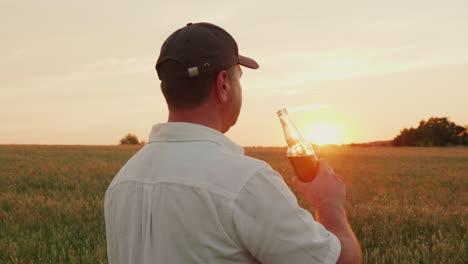 The-Farmer-Enjoys-Drinking-Beer